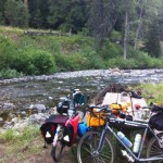 Steph and Ed's bikes on the Hells Canyon, Hells Yes tour